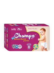 Champs High Absorbent Baby Pants Diapers, Size XL, 12-17 kg, 32 Count