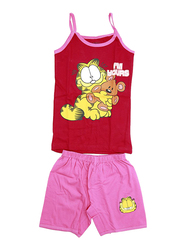 Garfield Odie Printed Vest and Shorts Set, Size 8 UK, White