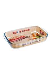 Cook n' Share 2 Ltr (7) Borosilicate Glass Rectangular Roaster Baking Tray, 32 x 20 x 6cm, Clear