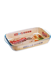 Cook n' Share 1.6 Ltr (6) Borosilicate Glass Rectangular Roaster Baking Tray, 28 x 20 x 5cm, Clear