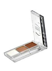 GlamGals Eyebrow Fix Kit, EFK06, White/Light Brown/Dark Brown
