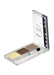 GlamGals Eyebrow Fix Kit, EFK04, Cream/Dark Brown/Light Brown