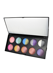 GlamGals 20 Color Baked Eye Shadow Palette, Multicolour