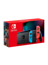 Nintendo Switch Hadskabaa Console, 32GB, with Left & Right Joy Con, Black with Neon Red/Blue Joy Con
