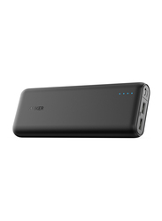 Anker 15600mAh PowerCore USB Type-C Fast Charging Portable Power Bank, with Micro-USB Input, Black