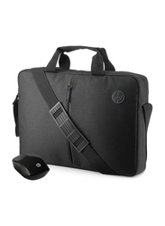 Hp Value 15.6 inch Shoulder Traditional Laptop Bag with Wireless Mouse Kit 2GJ35AA, Black