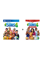 The Sims 4 + The Sims 4 Cats & Dogs Video Game Set for PlayStation 4 (PS4) by Electronic Arts