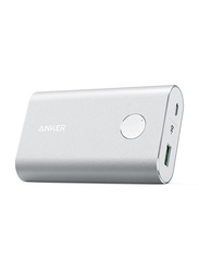 Anker 10050mAh PowerCore+ Fast Charging Power Bank with Micro-USB Input, Silver