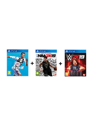 FIFA19 + NBA2K19 + WW2K19 Video Game Set for PlayStation 4 (PS4) by 2K