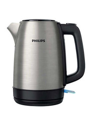 Philips 1.7L Kettle, 1850W, HD935090, Silver/Black
