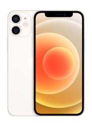 Apple iPhone 12 Mini 128GB White, With FaceTime, 4GB RAM, 5G, Dual Sim Smartphone, International Specs Version