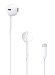 Apple EarPods Lightning Connector In-Ear Headphones, MMTN2, White