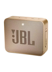 JBL GO 2 Wireless IPX7 Waterproof Portable Bluetooth Speaker, Champagne Gold
