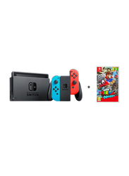 Nintendo Switch Gaming Console, 32GB, with Left & Right Joy Con and Super Mario Odyssey Game, Black with Neon Joy Con