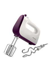 Philips Hand Mixer, 400W, HR3740, White/Purple
