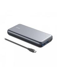 Anker 19000mAh PowerCore+ 19000 PD Hybrid Portable Charger USB-C Hub, Black
