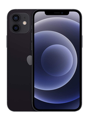 Apple iPhone 12 128GB Black, With FaceTime, 4GB RAM, 5G, Single Sim Smartphone, International Specs Version