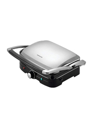 Kenwood Contact Grill, 1500W, HG369, Silver/Black