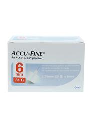Accu-Chek Accu-Fine Needles, 6mm, 100 Pieces