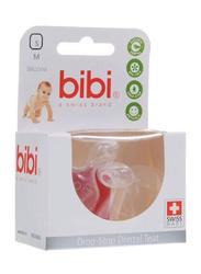 Bibi Drop-Stop Dental Teat, 103303, Medium, 2 Pieces, Clear