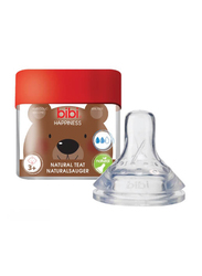 Bibi Happiness Anti Colic Dental Teat, 101975, Large, Clear