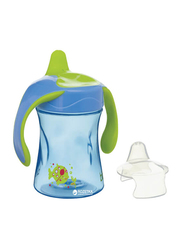 Bibi Basic Care Jack Printed Polypropylene Training Cup with Spout, 112723, 220ml, Blue/Green