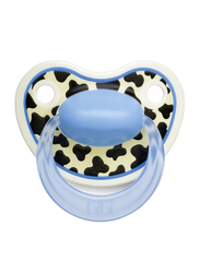 Bibi Tiger Dental Silicone Soother with Ring, 0-6 Months, 114156, Multicolor