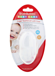 Brush Buddies Baby Finger Toothbrushes with Case for Babies, Clear