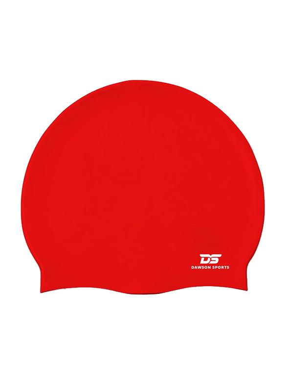 Dawson Sports Silicone Swim Cap, Junior, Red