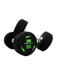 Dawson Sports Rubber Dumbbells, Black, 2 x 30KG
