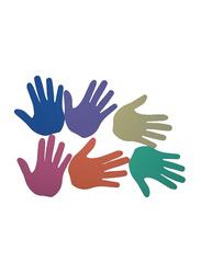 Dawson Sports Hand Floor Marker, 12 Pieces, Multicolor