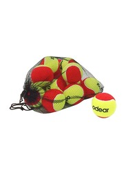 Dawson Sports Low Bounce Tennis Balls, Pack of 12, Yellow/Red