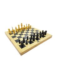 Dawson Sports Chess Board with Chessmen, Brown