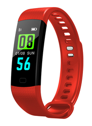 Dawson Sports Health Band Smart Fitness Tracker, Black Case with Red Band
