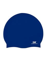 Dawson Sports Silicone Swim Cap, Junior, Navy Blue