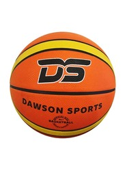 Dawson Sports Rubber Basketball, Size 7, Yellow/Brown