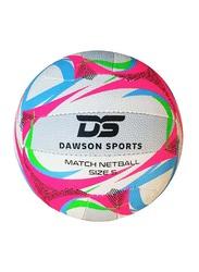 Dawson Sports Match Netball, Size 5, Pink/White