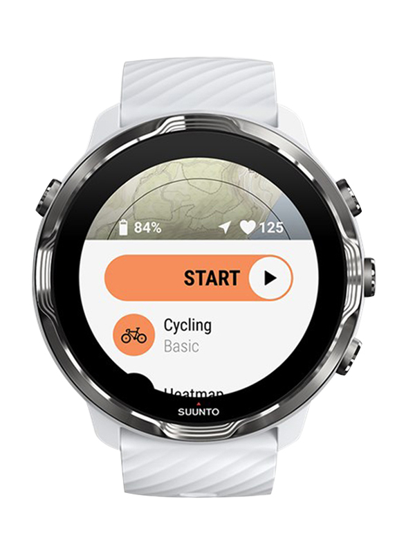 Suunto 7 Smartwatch, GPS, White/Burgundy
