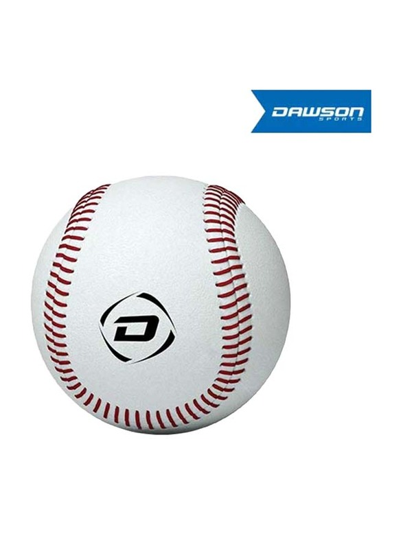 Dawson Sports All Leather Rounder's Ball, White