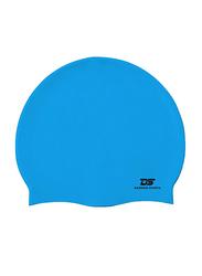 Dawson Sports Silicone Swim Cap, Junior, Light Blue