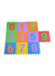 Dawson Sports 10-Piece Numbered Interlocking Mats, Multicolor