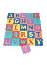 Dawson Sports 26-Piece Alphabet Interlocking Mats, Multicolor