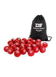 Dawson Sports Cricket Windball, Pack of 30, Red