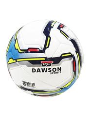 Dawson Sports Club Football, Size 5, Blue/White