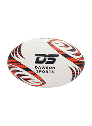 Dawson Sports GUK Match Rugby Ball, Size 5, Red/White