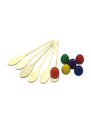 Dawson Sports Egg and Spoon Set, 12 Pieces, Multicolor