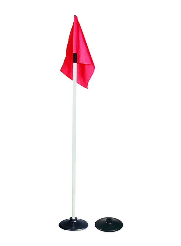Dawson Sports Corner Flag with Base, Set of 4, Red/White