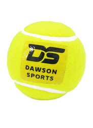 Dawson Sports Hard Tennis Cricket Ball, Pack of 4, Yellow
