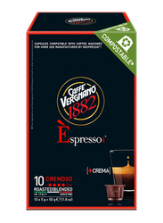 Caffe Vergnano 1882 Espresso Cremoso Coffee Capsules, 10 Capsules x 5g