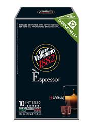 Caffe Vergnano 1882 Espresso Intenso Coffee Capsules, 10 Capsules x 5g